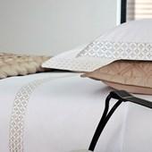 Jogo de Cama King Size Carnegie Branco 300 Fios Algodão Egípcio By The Bed
