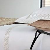 Jogo de Cama King Size Carnegie Cinza 300 Fios Algodão Egípcio By The Bed