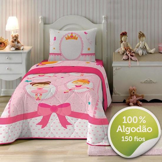 209cd9b22c Jogo de Cama Solteiro Infantil Lepper Ballet 3 Peças - LepinEnxovais