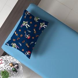 Jogo de Cama Toy Story Azul Solteiro Malha 100% algodão 2 peças