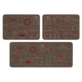 Jogo de Tapete de Cozinha Menu Jolitex Panelas 3 Peças
