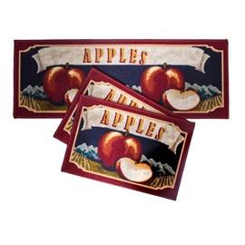 Jogo de Tapete para Cozinha Corttex Atualle Confeitare Apples Flag