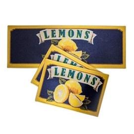 Jogo de Tapete para Cozinha Corttex Atualle Confeitare Lemons Flag