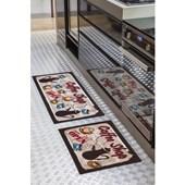 Jogo de Tapete para Cozinha Corttex Color Art Mocha 2 Peças