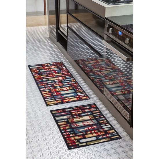 Jogo de Tapete para Cozinha Corttex Color Art Requinte 2 Peças