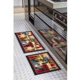 Jogo de Tapete para Cozinha Corttex Color Art Tempero 2 Peças