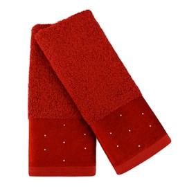 Kit com 2 Toalhas de lavabo Cristal Atlântica Vermelha