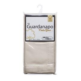 Kit Guardanapo Algodão Ponto Ajour 40cm x 40cm Jolitex Taupe 2 Peças