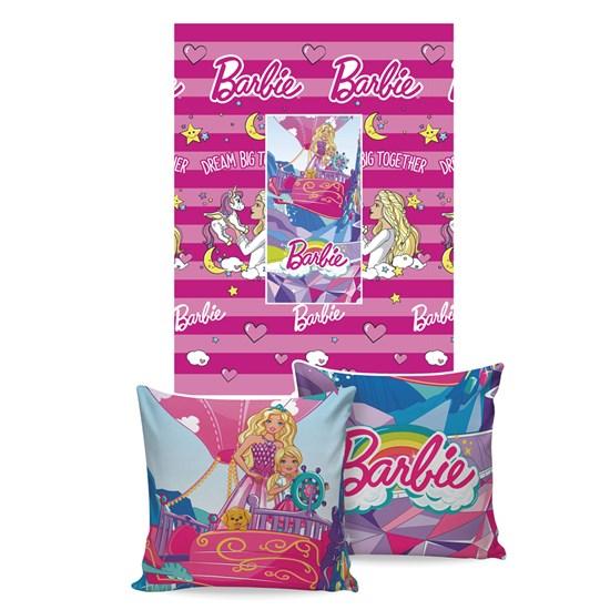 Manta Almofada Barbie Jolitex Ternille