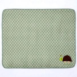 Manta de Berço Microfibra Bordada Buettner Tartaruga Verde