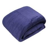Manta de Microfibra Casal Jolitex Azul Marinho