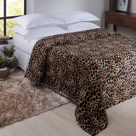 Manta de Microfibra King Size Jolitex Animal Print Senegal