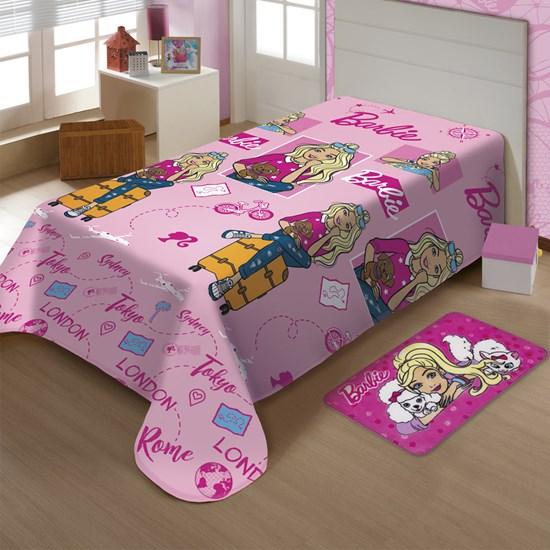 Manta Microfibra Soft Barbie II Solteiro Jolitex