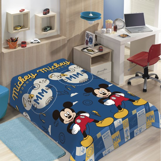 Manta Microfibra Soft Mickey Mouse II  Solteiro Jolitex