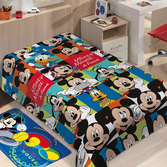 Manta Microfibra Soft Mickey Mouse Solteiro Jolitex