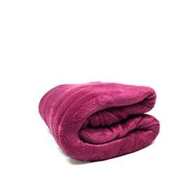 Manta Solteiro Fleece Microfibra Lisa Andreza