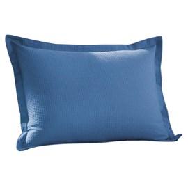 Porta Travesseiro Dohler Azul Piquet Liso