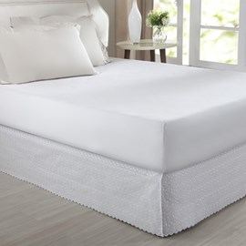 Saia Cama Box Queen Corttex Lese Branco