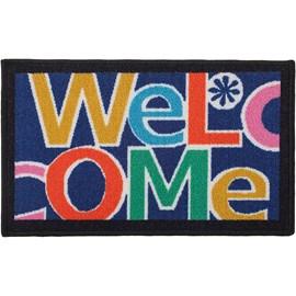 Tapete Bem-vindo Corttex Azul