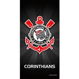 Toalha de Banho Bouton Veludo Times Corinthians I