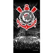 Toalha de Banho Bouton Veludo Times Corinthians II