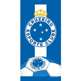 Toalha de Banho Bouton Veludo Times Cruzeiro