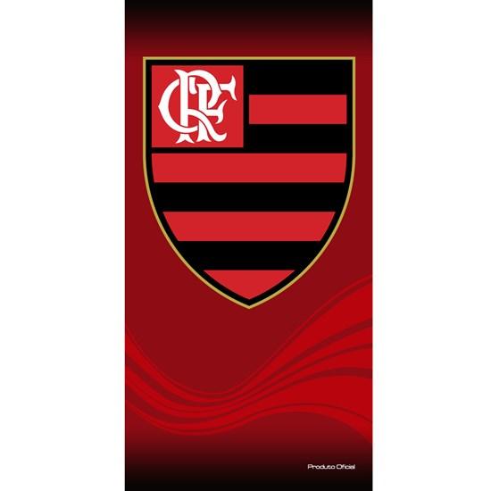 7e1f63c64c677 Toalha de Banho Bouton Veludo Times Flamengo - LepinEnxovais
