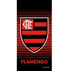 Toalha de Banho Bouton Veludo Times Flamengo III
