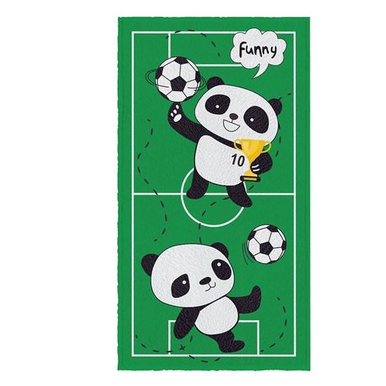 Toalha de Banho Infantil Felpuda Lepper Panda Futebol
