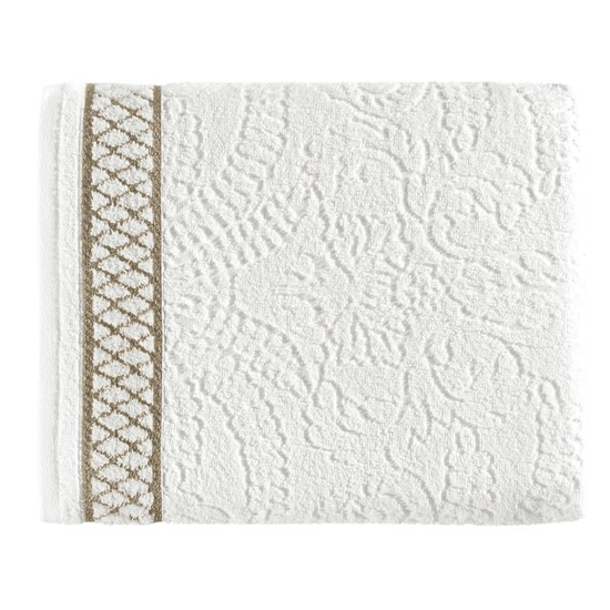 Toalha de Banho Karsten Eudora Branco/Dourado