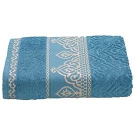 Toalha de Banho Premium Barroca Azul Claro
