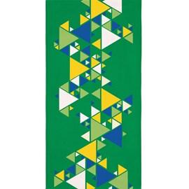 Toalha de Banho Veludo Avulsa Brasil Triângulos Lepper