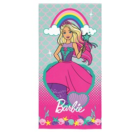 Toalha de Banho Veludo Infantil Barbie II Lepper