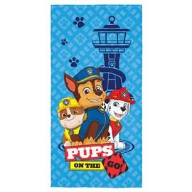 Toalha de Banho Veludo Infantil Patrulha Canina Azul Super Lepper