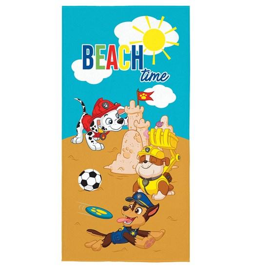 Toalha de Banho Veludo Infantil Patrulha Canina Beach Time Lepper