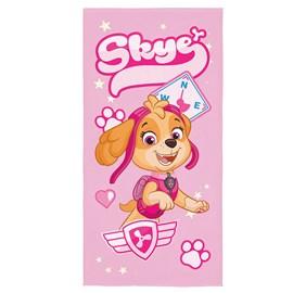 Toalha de Banho Veludo Infantil Patrulha Canina Rosa Super Lepper