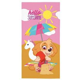 Toalha de Banho Veludo Infantil Patrulha Canina Sunshine Lepper