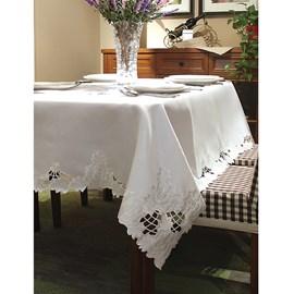 Toalha de Mesa Cozy Elegant Bordada 1,60x2,70 Branco