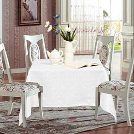 Toalha de Mesa de Jacquard 1,40m x 1,40m Sultan Branco