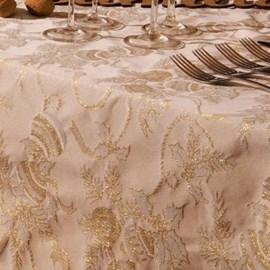 Toalha de Mesa Karsten Natal 1,75x1,75 Golden Fitas