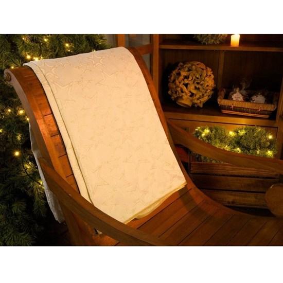 Toalha de Mesa Karsten Natal 1,75x2,20 Golden Estrelas