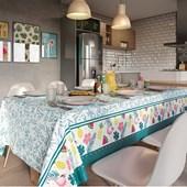 Toalha de Mesa Quadrada Teka Basic 1,40m x 1,40m Flamingo