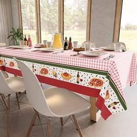 Toalha de Mesa Quadrada Teka Basic 1,40m x 1,40m Jantar Italiano