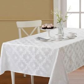 Toalha de Mesa Retangular Corttex Gran Jacquard 2,20x1,50 Nice Branco