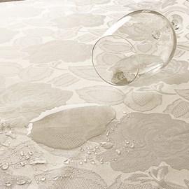 Toalha de Mesa Retangular Corttex Gran Jacquard 2,70x1,48 Lily Marfim