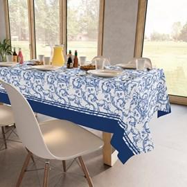 Toalha de Mesa Retangular Teka Basic 1,40m x 2,10m Arabesco