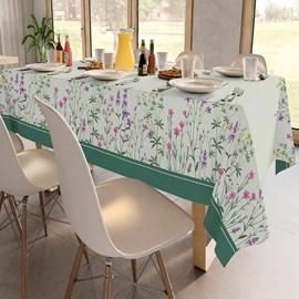 Toalha de Mesa Retangular Teka Basic 1,40m x 2,10m Violetas