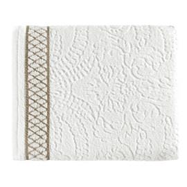 Toalha de Rosto Karsten Eudora Branco/Dourado