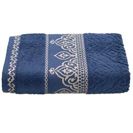 Toalha de Rosto Premium Barroca Azul escuro