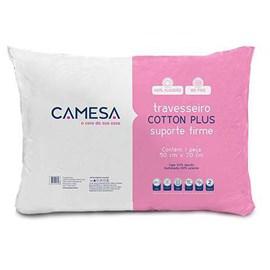Travesseiro Cotton Plus Suporte Firme 50cm x 70cm Camesa